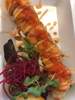 Aburi Salmon Awesome Roll