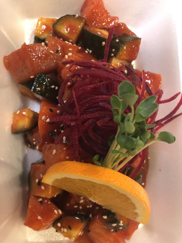 Spicy Salmon & Tuna Sashimi