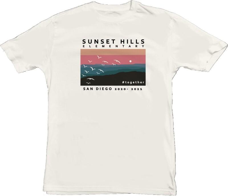 Retro Sunset Seagulls #together