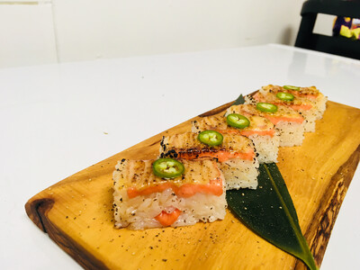 Salmon Oshi Sushi