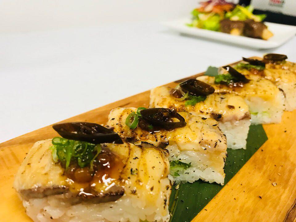 Barley Hamachi Oshi Sushi