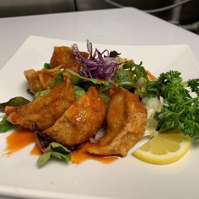 Spicy Deep Fired Pork Gyoza