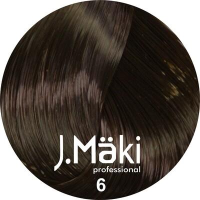 J.Maki Стойкий краситель для волос 6 Темно-русый 60 мл (J.Mäki Professional)