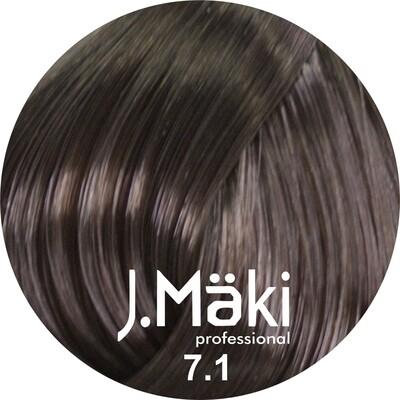 J.Maki Стойкий краситель для волос 7.1 Пепельный русый 60 мл (J.Mäki Professional)