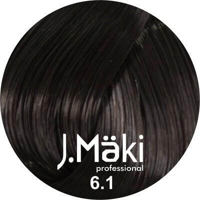 J.Maki Стойкий краситель для волос 6.1 Пепельный темно-русый 60 мл (J.Mäki Professional)