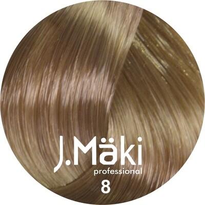 J.Maki Стойкий краситель для волос 8 Светло-русый 60 мл (J.Mäki Professional)