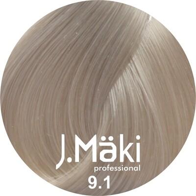 J.Maki Стойкий краситель для волос 9.1 Пепельный блондин 60 мл (J.Mäki Professional)