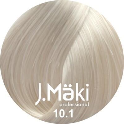 J.Maki Стойкий краситель для волос 10.1 Пепельный светлый блондин 60 мл (J.Mäki Professional)