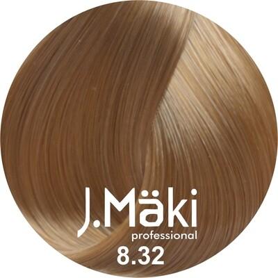 J.Maki Стойкий краситель для волос 8.32 Бежевый светло-русый 60 мл (J.Mäki Professional)