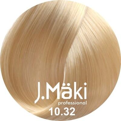 J.Maki Стойкий краситель для волос 10.32 Бежевый светлый блондин 60 мл (J.Mäki Professional)