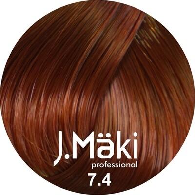 J.Maki Стойкий краситель для волос 7.4 Медный 60 мл (J.Mäki Professional)
