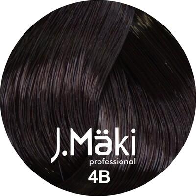 J.Maki Стойкий краситель для волос 4B Шоколад 60 мл (J.Mäki Professional)