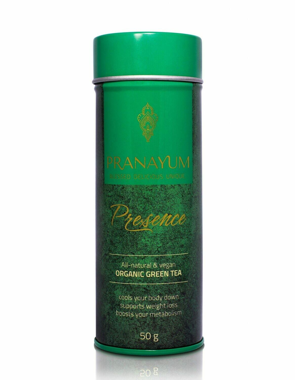 PRANAYUM SACRED TEA – PRESENCE (ORGANIC GREEN TEA) NATURAL