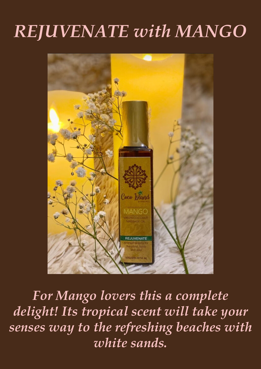 Mango - Virgin Coconut Massage Oil