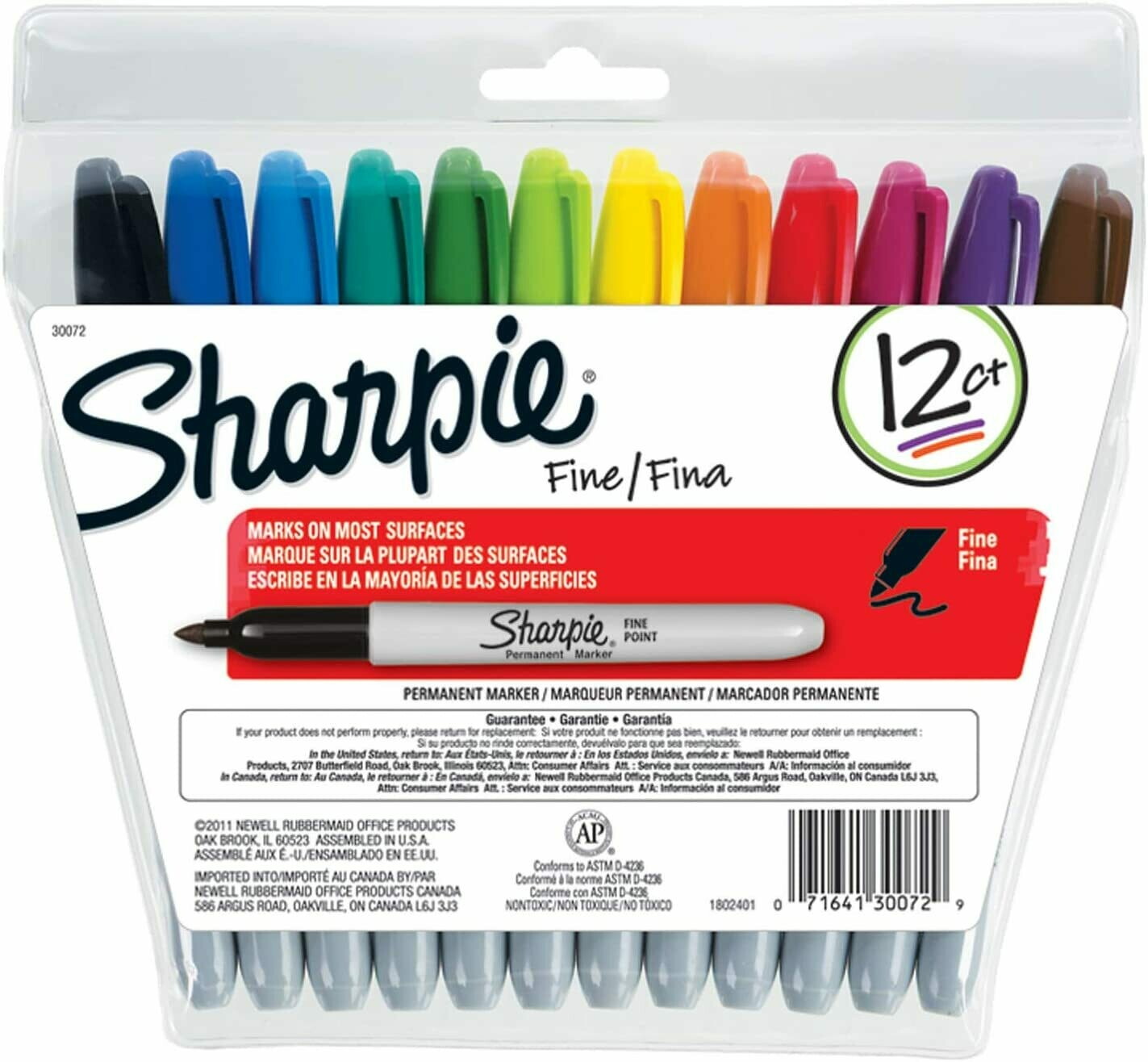 Sharpie Fine Permanent Markers - Set of 12