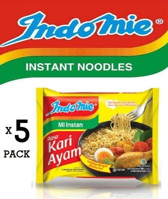 Indomie Chicken Curry Flavor Pack of 5