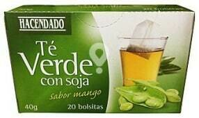 Green Tea with Soy - Mango Flavored Hacendado 20 Bags