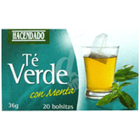 Green Tea with Mint Hacendado 20 Bags