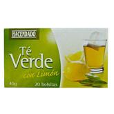 Green Tea with Lemongrass Hacendado 20 Bags