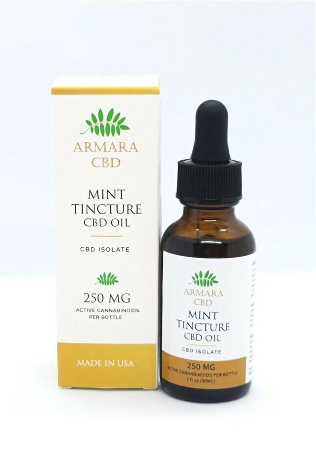 CBD Oil - 250mg CBD Isolate Mint Tincture 30ml