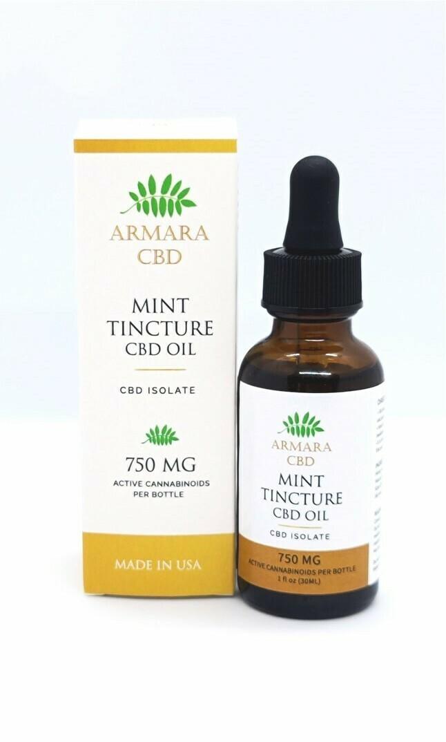 CBD Oil - 750mg CBD Isolate Mint Tincture 30ml