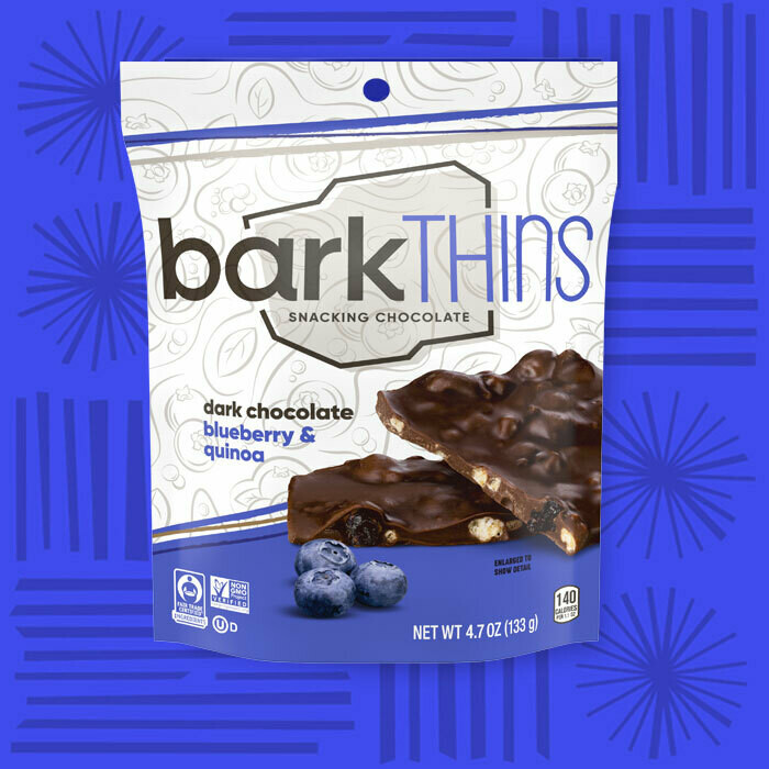 Bark Thins Snacking Chocolate - Blueberry & Quinoa