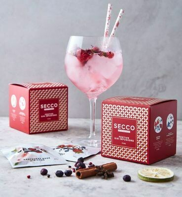 Secco Drink Infusion Festive Box - 8 Sachets in one Box (2 sachets of each flavor)