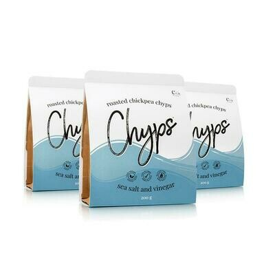 CHYPS - Roasted Chickpea Chyps - Sea Salt & Vinegar