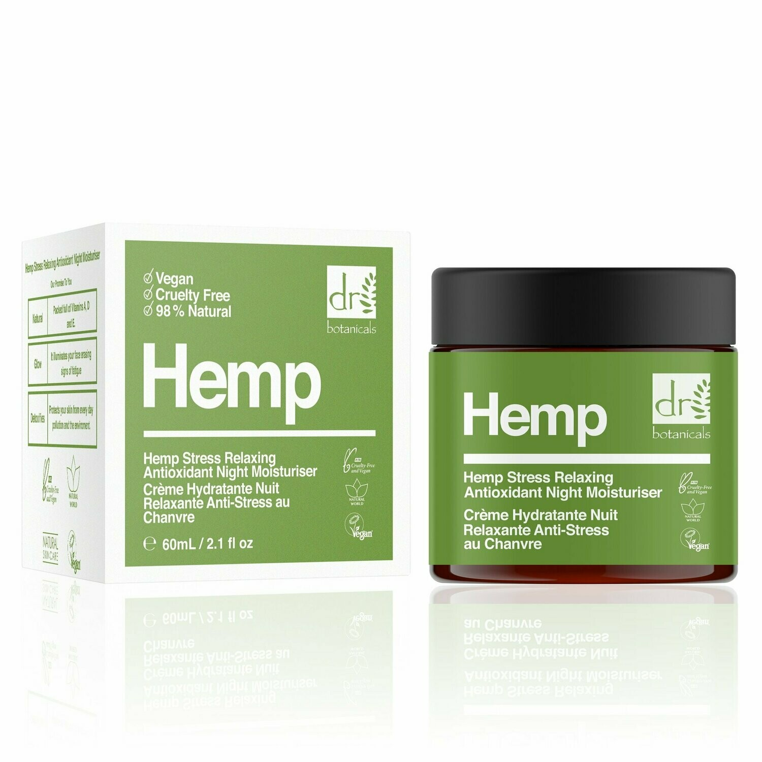Hemp Stress Relaxing Antioxidant Night Moisturiser 60ml