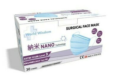 Blue Nano Surgical Face Mask