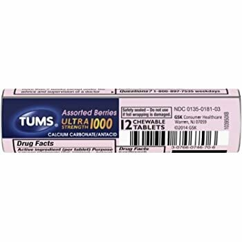 Tums - Assorted Berries - 12 Chewable Tablets