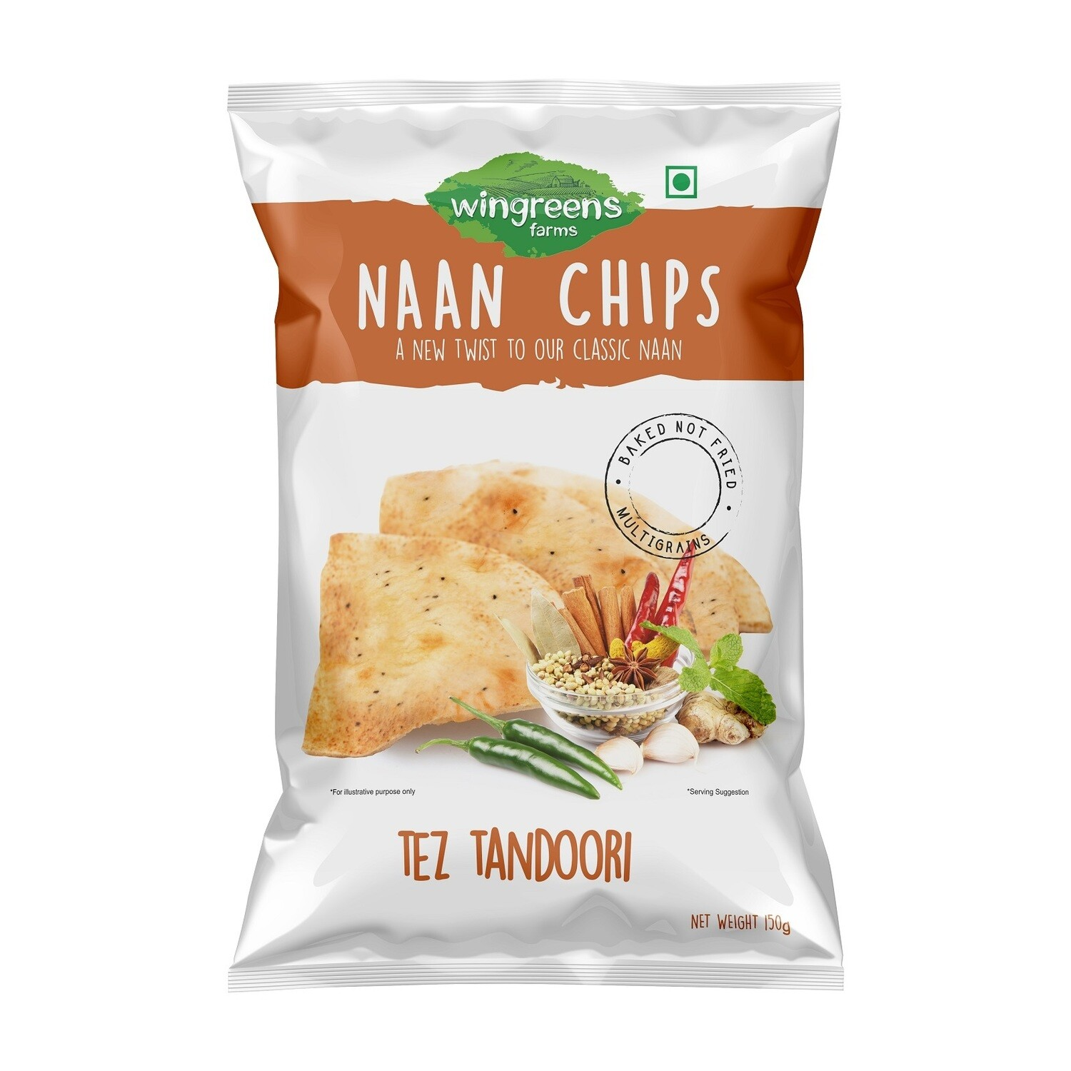 Naan Chips 150gms
