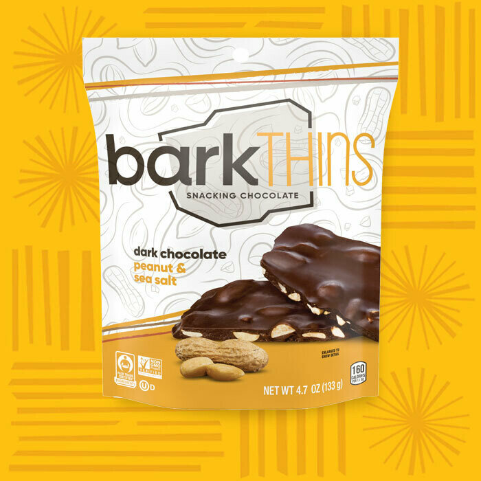 Bark Thins Snacking Chocolate Peanuts with Sea Salt 4.7oz