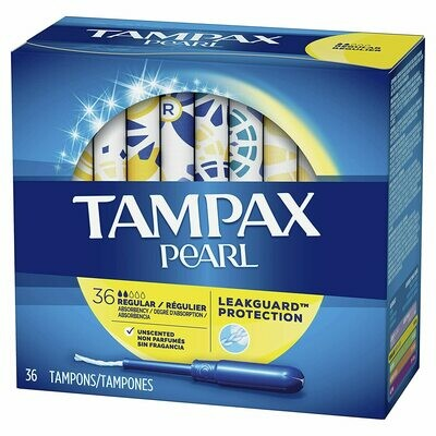 Tampax Pearl Tampons with Plastic applicator - 36pcs Pack