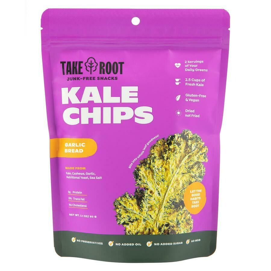 Kale Chips - Garlic Bread 60gms