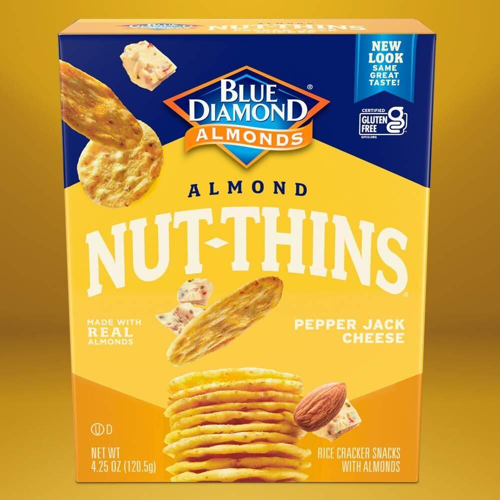 Blue Diamond Almond Nut Thins - Pepper Jack Cheese