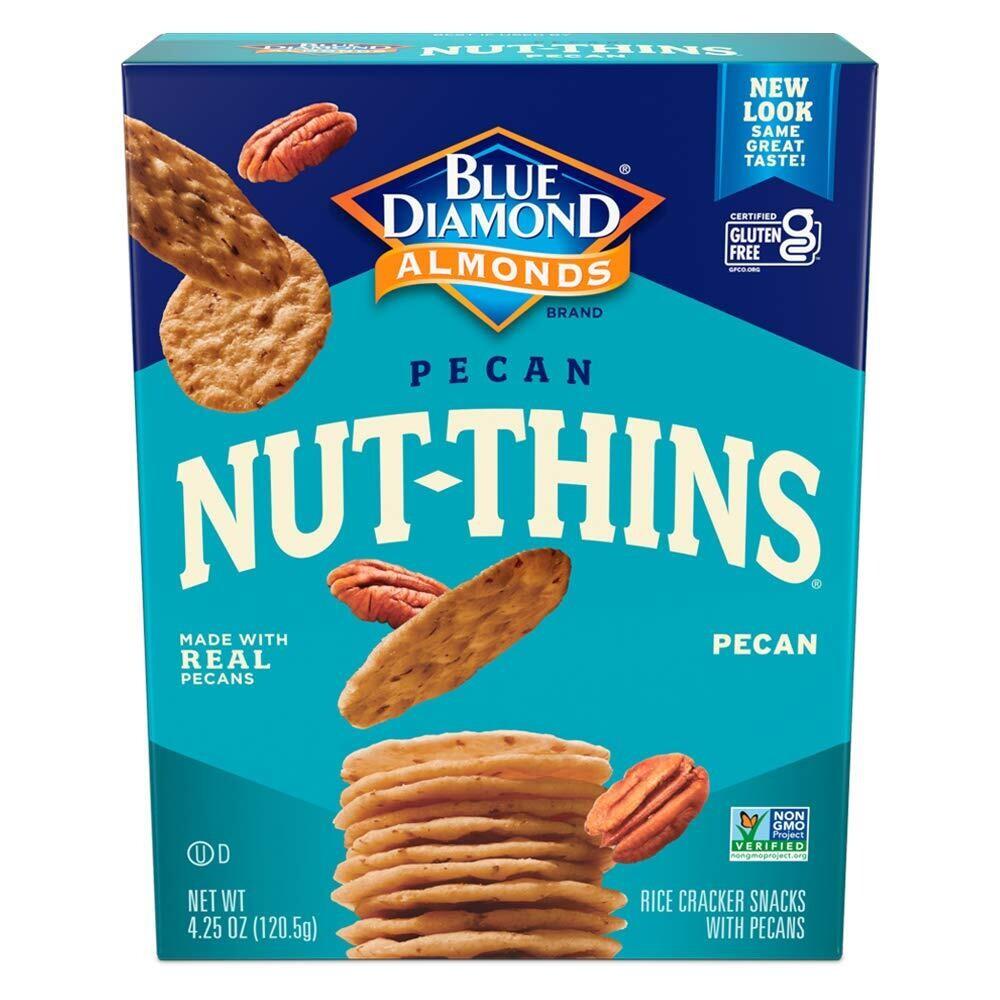 Blue Diamond Almond Nut Thins - Pecan