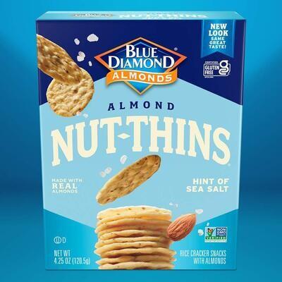 Blue Diamond Almond Nut Thins - Hint of Sea Salt
