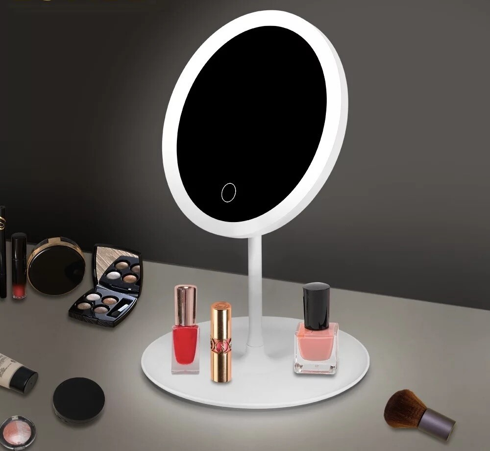 Make up Mirror with LED light - White Color