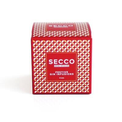 Secco Festive Drink Infusion Mixed Box - 8 Sachets in one Box (2 sachets of each flavor) Special Edition