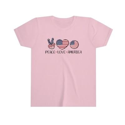 Peace Love America Kids' Tee