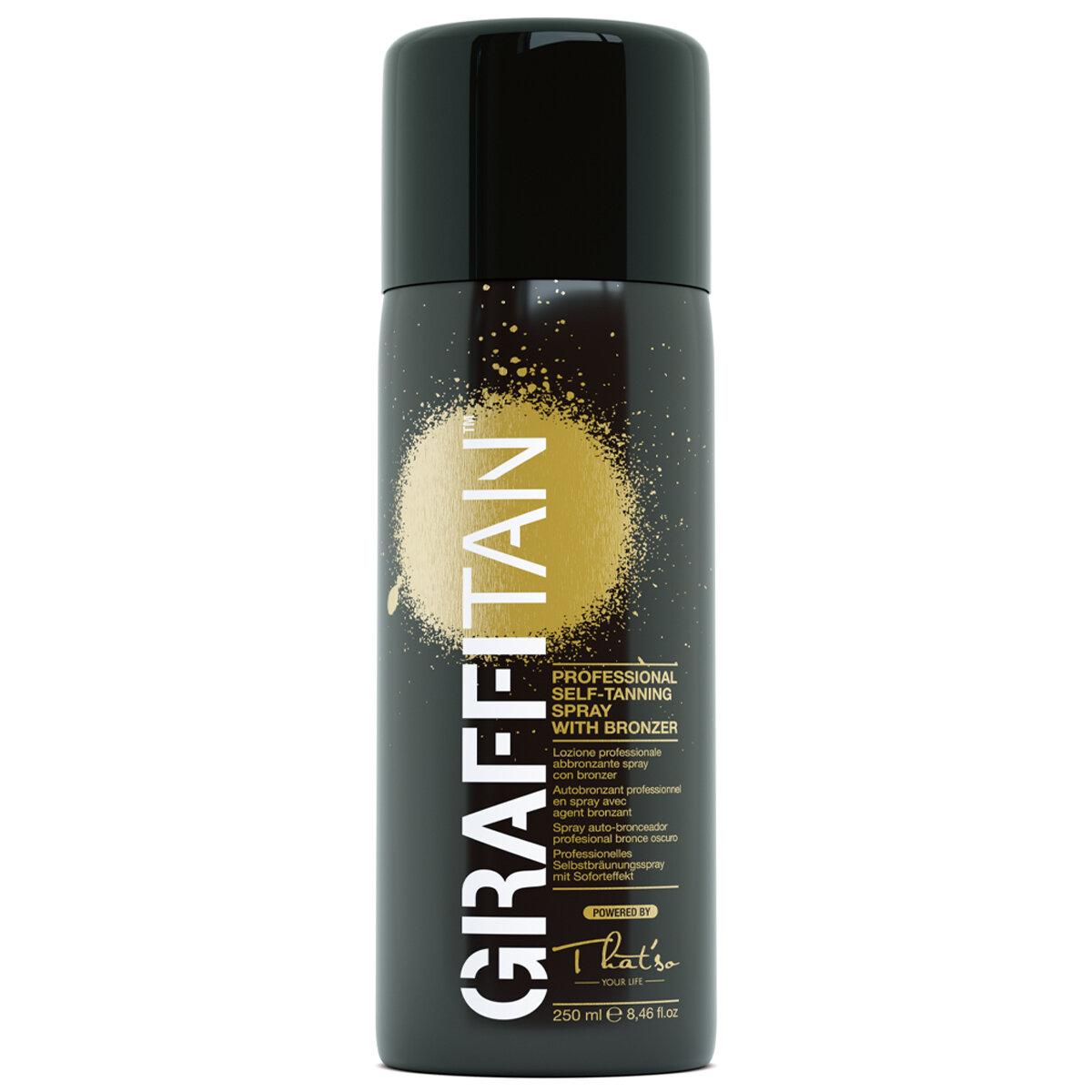 Граффитан - профессиональный мгновенный спрей-автозагар Темный бронзово-золотистый, можно наносить поверх макияжа/ GRAFFITAN That'so