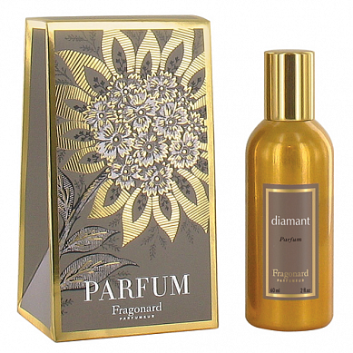 Бриллиант духи в золотом флаконе 60 мл / Diamant perfume gold bottle 60 ml