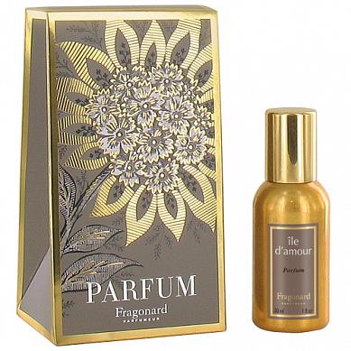 Остров любви духи в золотом флаконе 30 мл / Ile D'Amour perfume gold bottle 30 ml