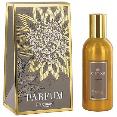 Остров любви духи в золотом флаконе 60 мл / Ile D'Amour perfume gold bottle 60 ml