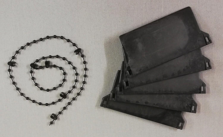 Vertical Blind Weights & Chain (black)