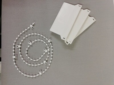 Vertical Blind Weights & Chain (white)
