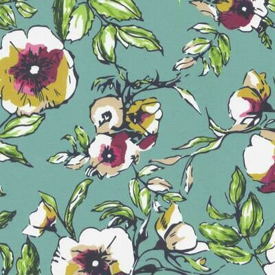 Roller Blind - Fabric: Wildflower Juniper B9