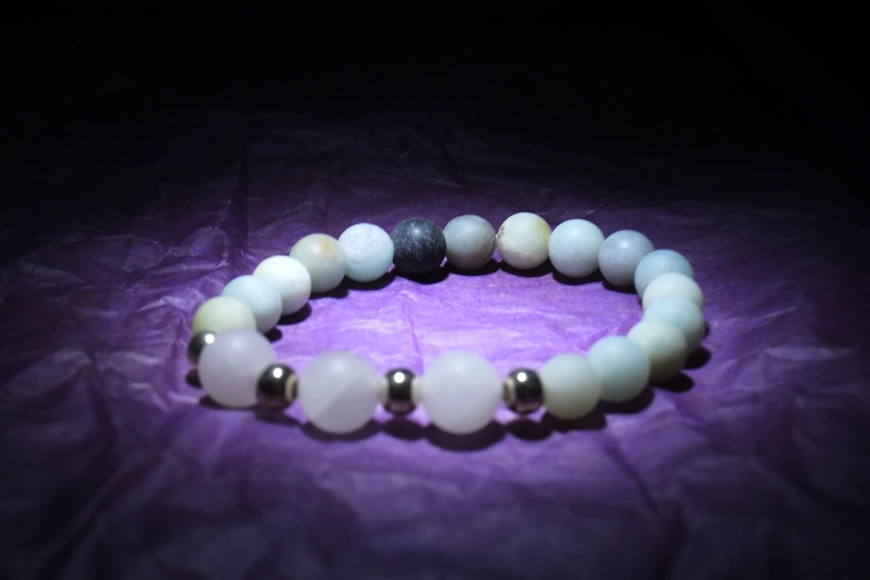 Rose Quartz & Amazonite Bracelet