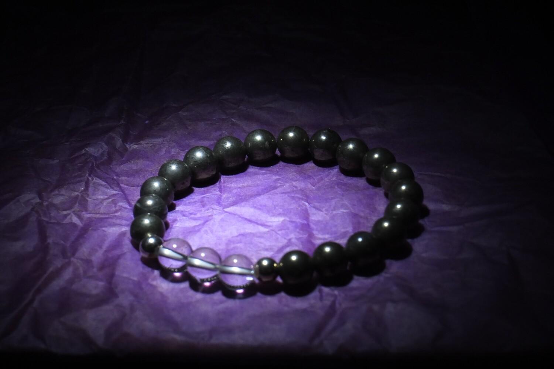 Clear Quartz & Pyrite Bracelet